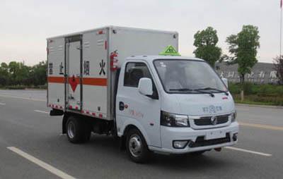 国六小东风易燃气体厢式运输车