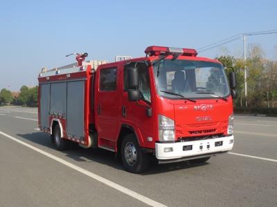 国六庆铃3.5吨水罐消防车