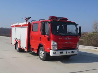 国六庆铃3.5吨泡沫消防车