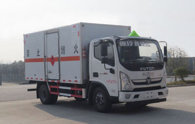 国六福田奥铃易燃气体厢式运输车