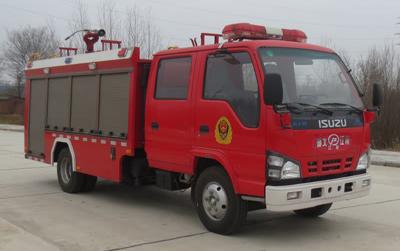 国六庆铃2-3吨水罐消防车