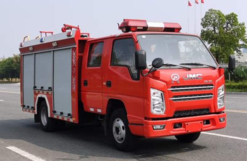 国六江铃水罐消防车