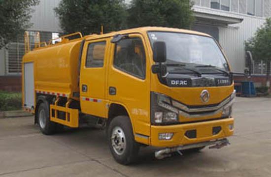 国六东风双排消防洒水车
