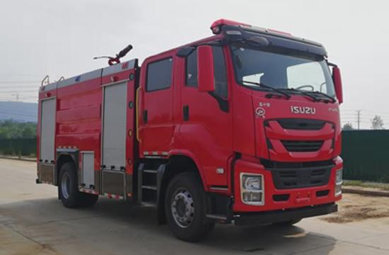 国六庆铃7吨泡沫消防车