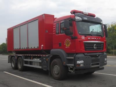 车厢可卸式器材消防车