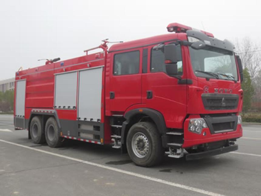 豪沃10吨干粉泡沫联用消防车